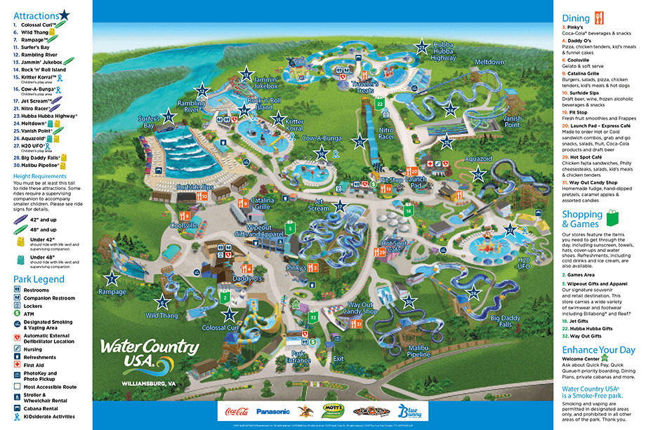 2016 Water Country Usa Map Great Wolf Lodge Pinterest Water Parks Water And Water Park Rides
