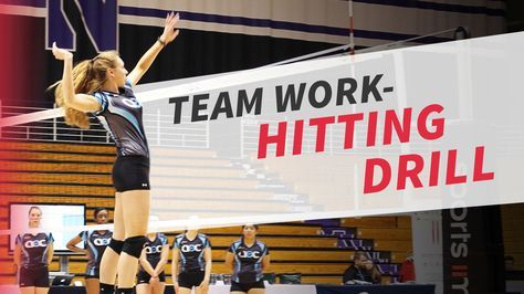 3x3 Hitting Drill With Debbie Brown The Art Of Coaching Volleyball Volleyball Drills Coaching Volleyball Volleyball Workouts