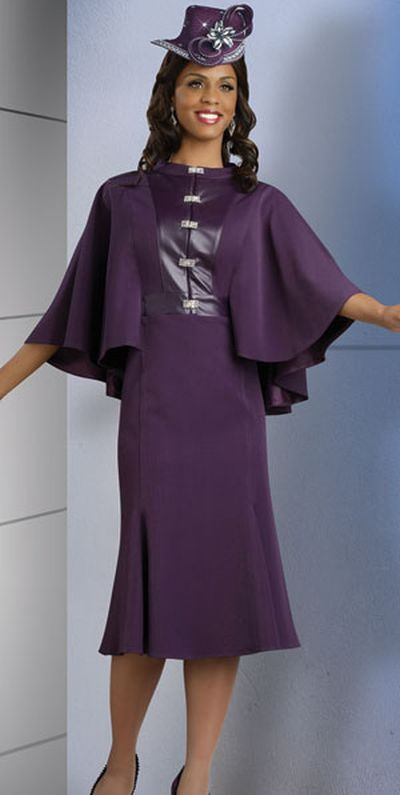 Purple Church Suits | Lisa Rene by Donna Vinci 3219 Womens Purple ...