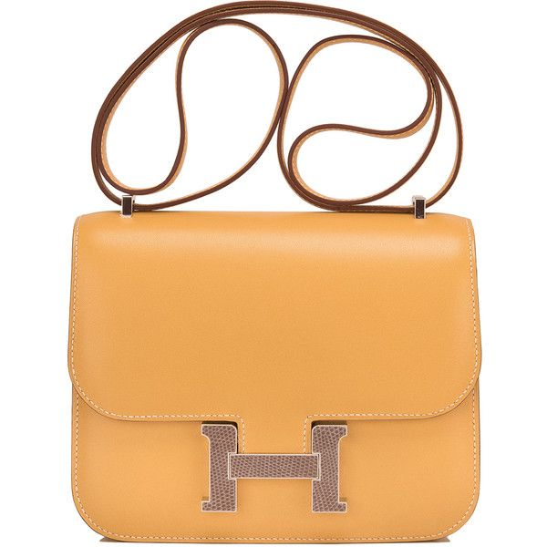 Pre-Owned Hermes Paille Mini Constance 18cm Lizard H Closure ( 14 8ef9e8b938dd9