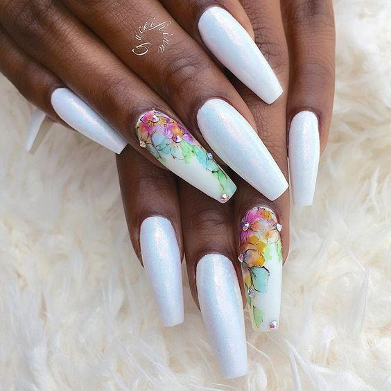 Facebook Pinterest Twitter Google+ | Nails | Pinterest | Long white ...