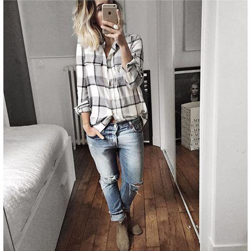 Habillée / Débraillée d'hier et réponses co :• pour la skinnisation de mes jeans je demande en général une ouverture de 12,5 en bas, Apres cela dépend aussi des matières.• je prends du 38 pour mes chemises Sezane pour les avoir un peu loose en bas et touj