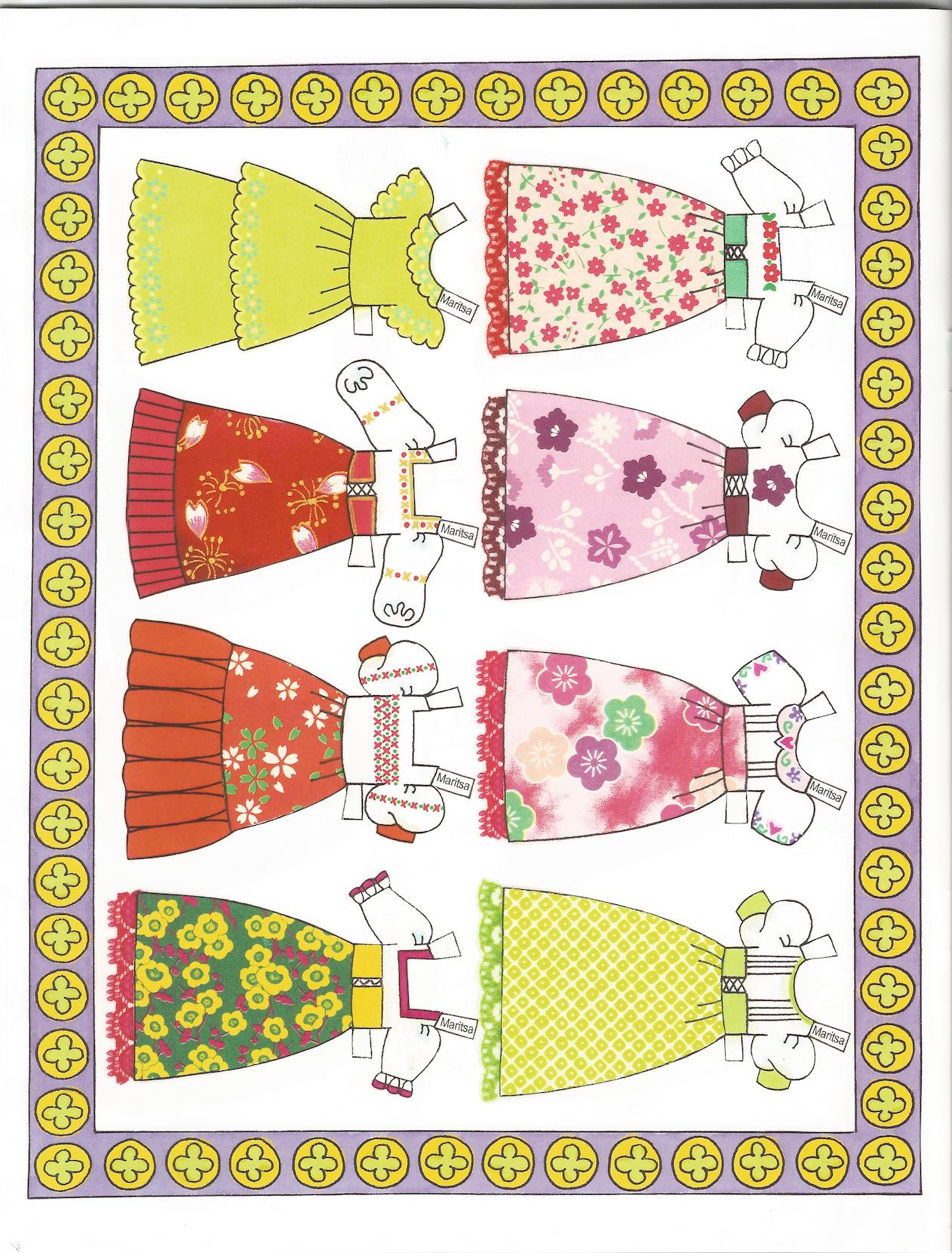 Fiesta Girls Paper Dolls By Alina M Kolluri