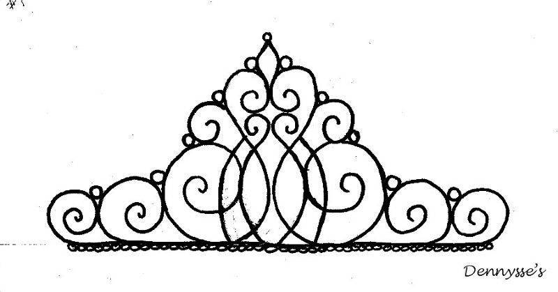 Tiara Template For Cake Topper  Yummy Stuff    Piping