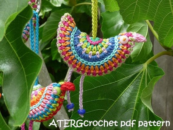 Colorful Christmas ball crochet pattern by ATERGcrochet | Vögel ...