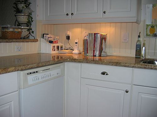 kitchen backsplash photo gallery wainscoting beadboard country kitchen with wainscoting amp wood counters in