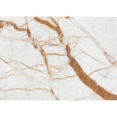 East Urban Home Marble Brown Area Rug | Wayfair