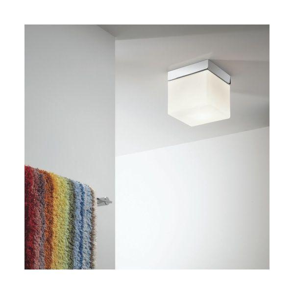 Sabina Small Ip44 Square Bathroom Ceiling Light Ligthting Up