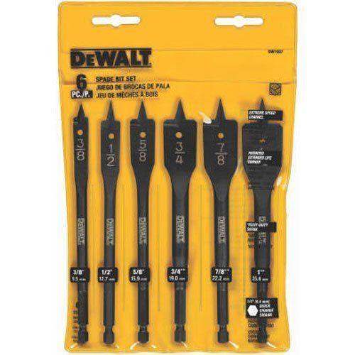 Bit Inch Dewalt 6 3 8 1 Spade Drill Assortment Dw1587 New Set Multi Size Dewalt Dewalt Drill Drill Bits Dewalt Tools