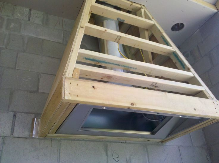 Inside of range hood framing a kitchen remodel what i for Outdoor kitchen grill hood