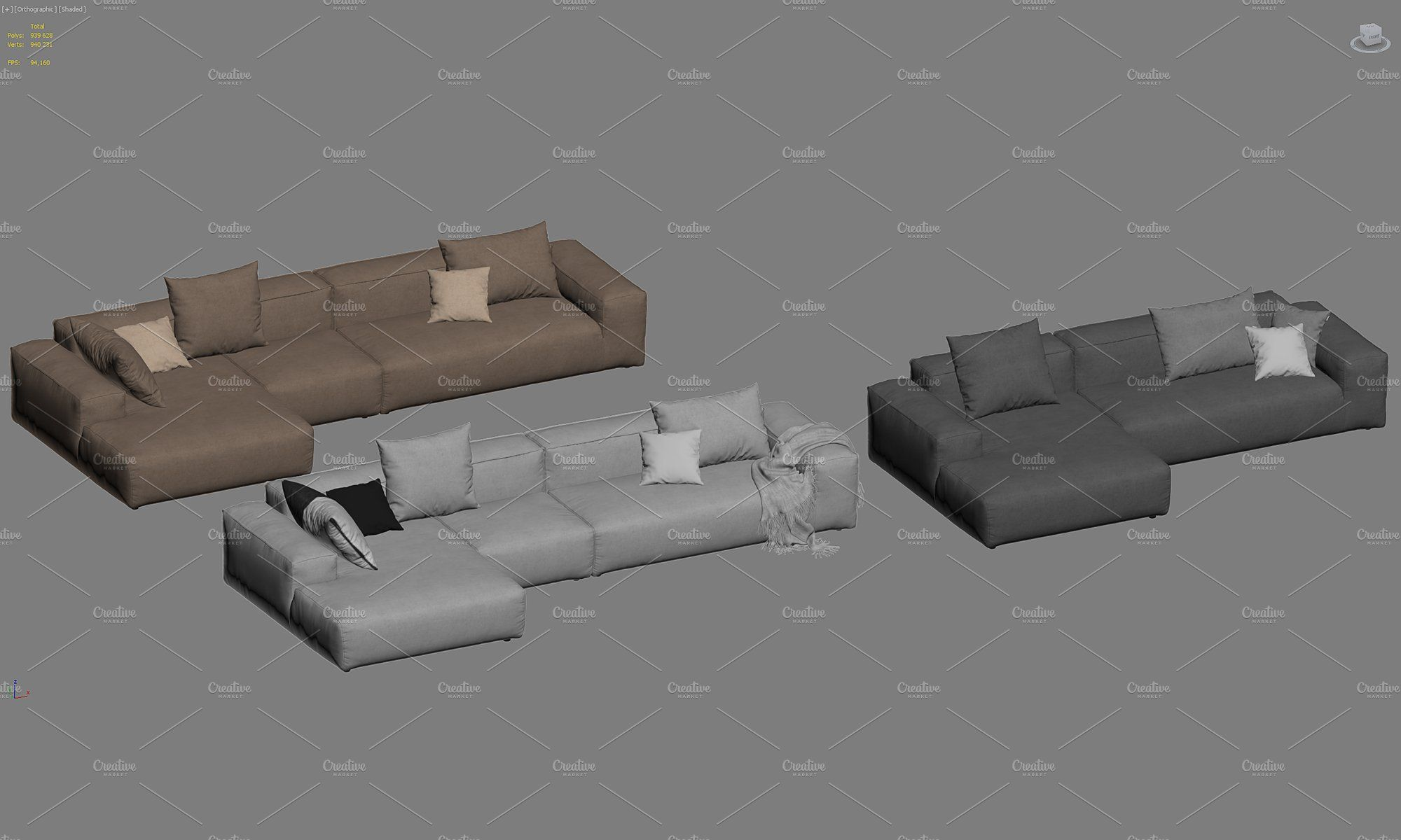 Freistil Sofa Freistil 175 Corner Sofas 3d Model | Modular Corner Sofa, Corner Sofa, Sectional Couch