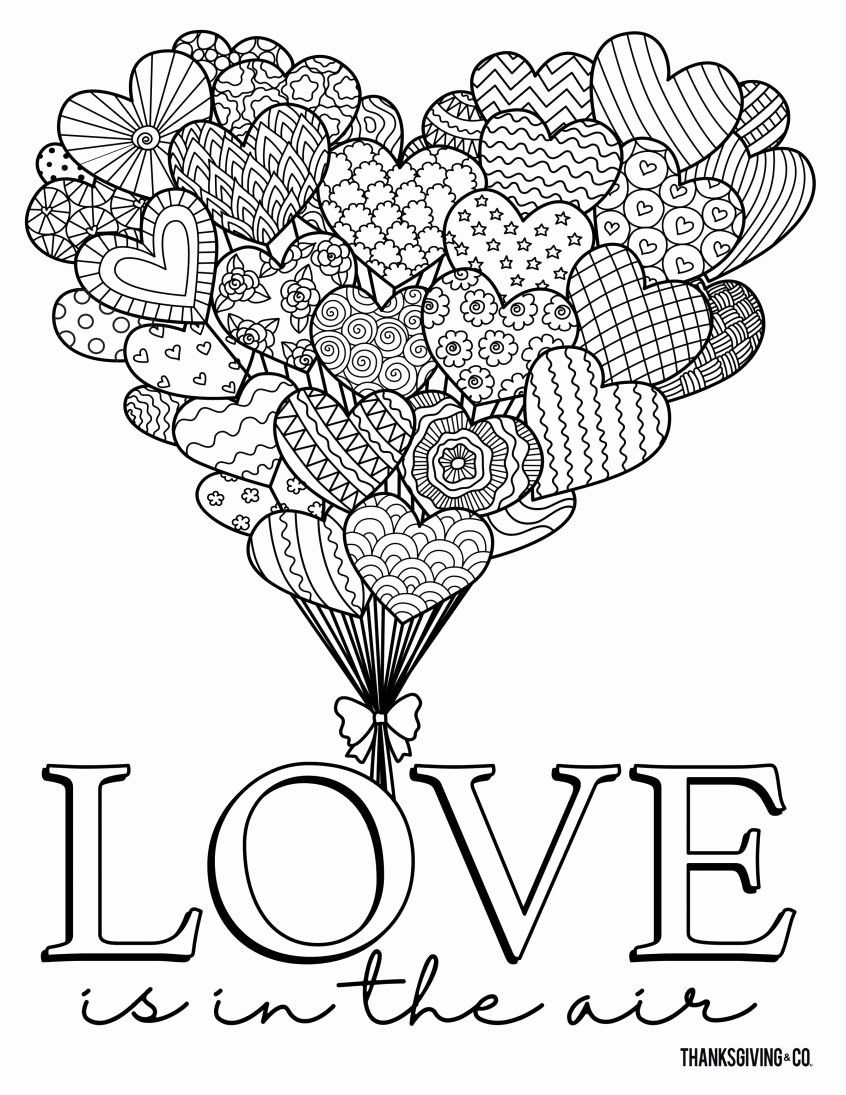 Coloring Page For Valentines Day With Images Valentines Day
