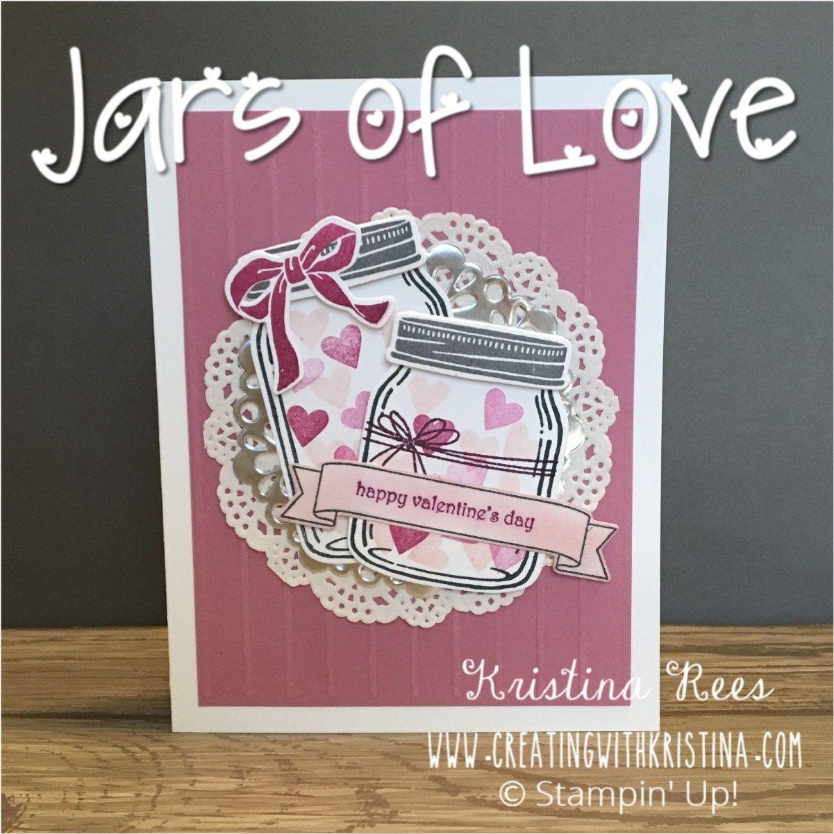 jar of love stamp setstampin' up valentine card www