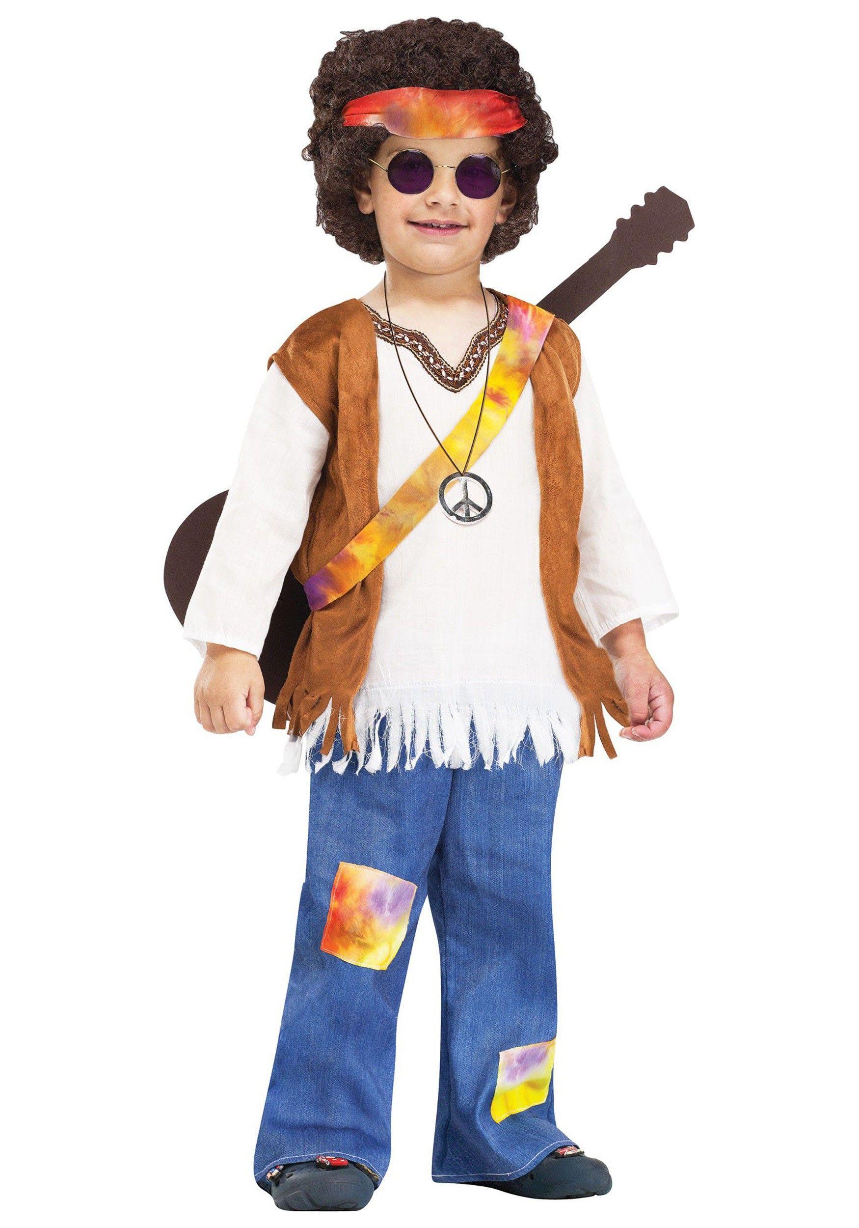 Fantasia Infantil Meninos Hippie Anos 70 Carnaval Halloween