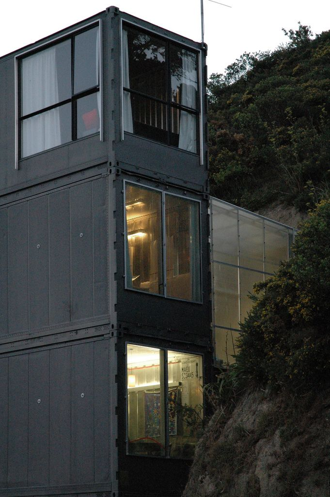 Shipping Container House Wellington New Zealand Container House Container Architecture Shipping Container