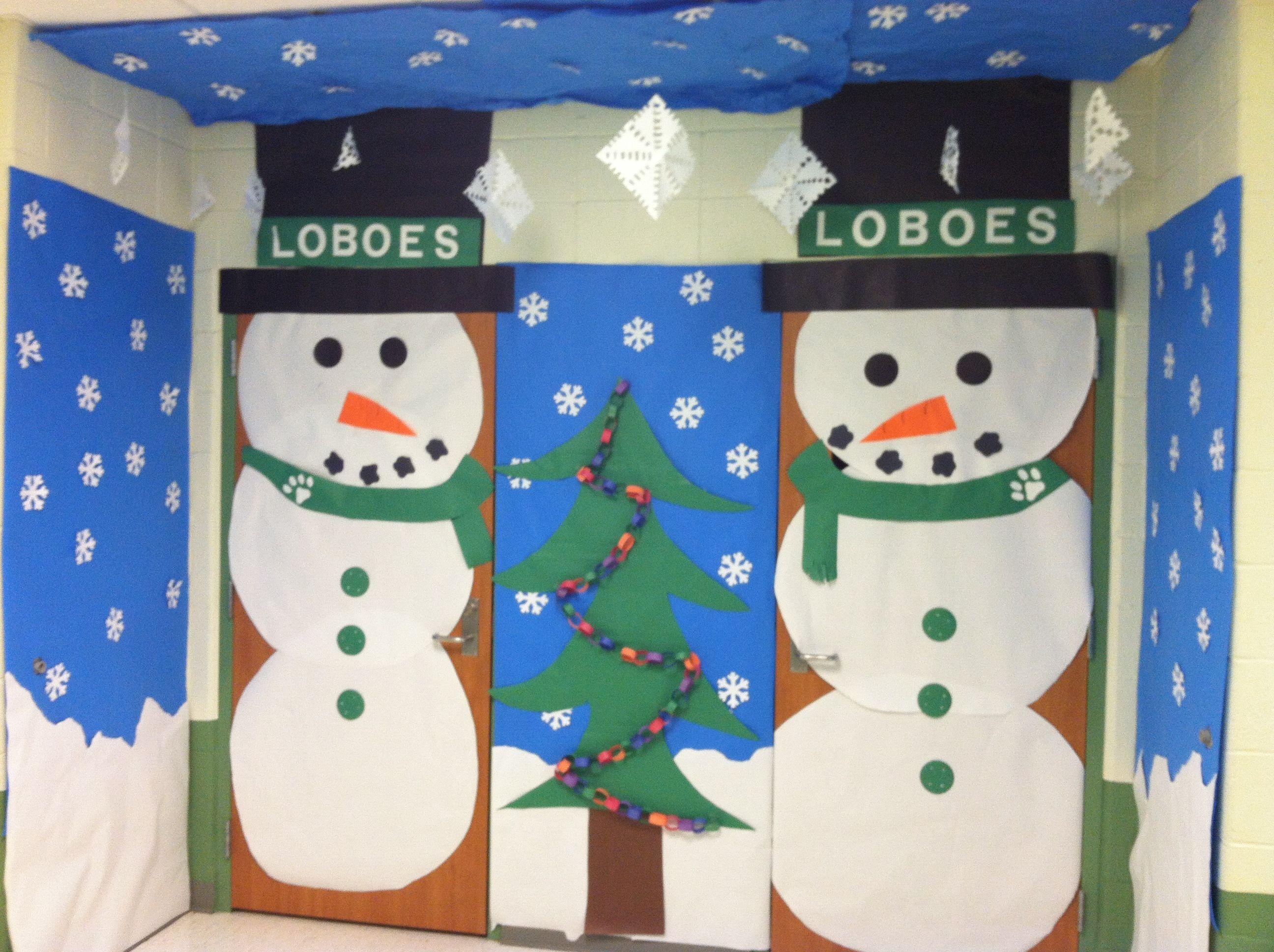 Winter Time Classroom Doors