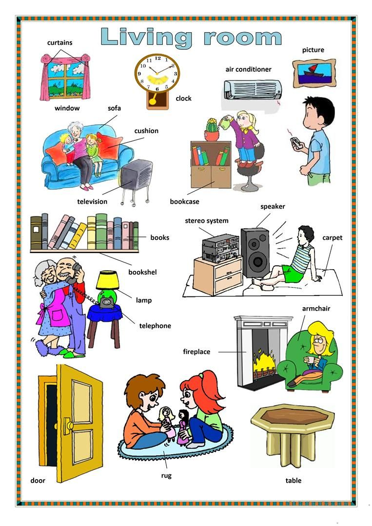 Living room. worksheet - Free ESL printable worksheets made by ...