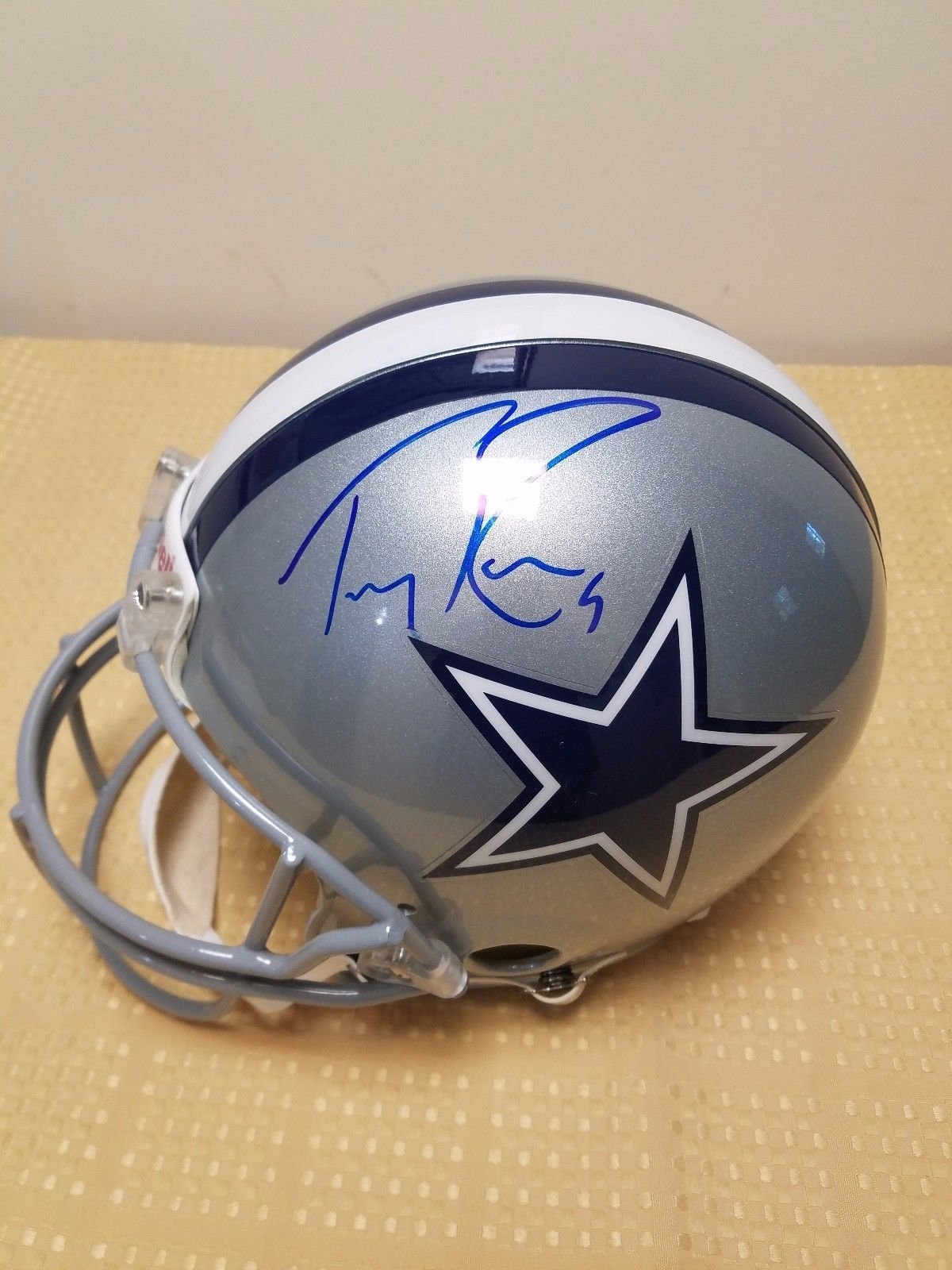 separation shoes 16831 640c3 Tony Romo autographed Full Size Ridell Dallas Cowboys helmet ...