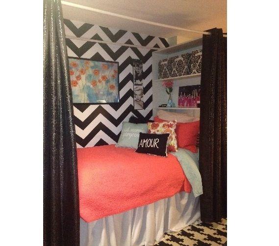 Decorative Dorm Shelf - Over Bed Shelving Unit | College ...