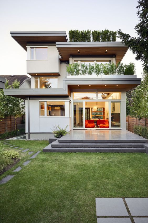 Sustainable Modern Home Design In Vancouver Modern Homes Modern Architecture Interior Design Modern Art Architecture Design House Exterior House Styles