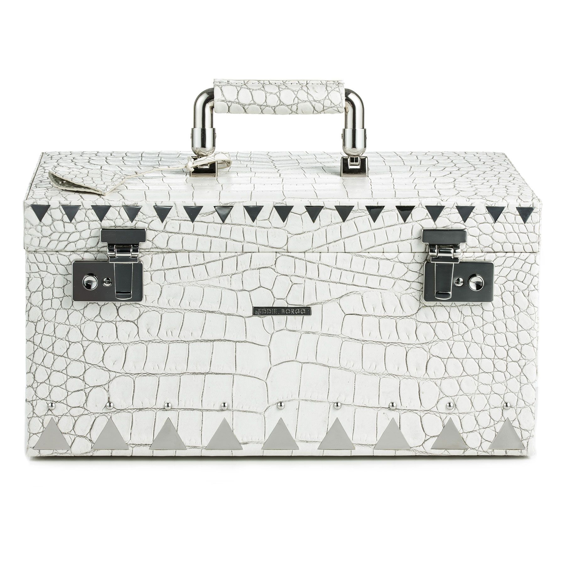EDDIE BORGO JEWELRY TRUNK IN WHITE CROCODILE 2000 I am looking