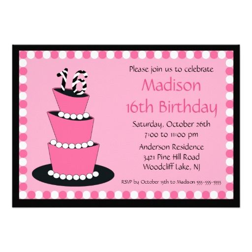 Get Sweet 16 Birthday Invitations Wording