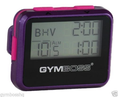 GYMBOSS INTERVAL TIMER & STOPWATCH VIOLET / PINK METALLIC GLOSS FROM GYMBOSS HQ  | eBay #exerciseequipment