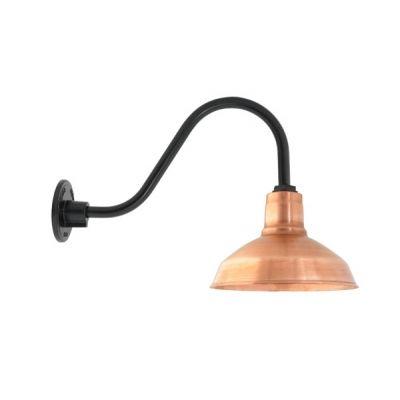 Drake Copper Gooseneck | Copper Barn Light, Raw Copper Exterior ...