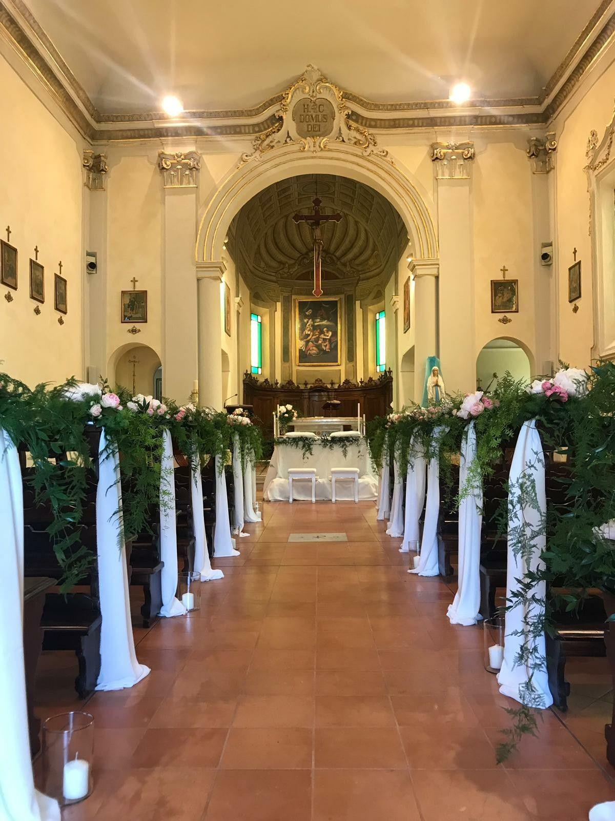 Catholic church wedding decoration Waiting for the wedding
