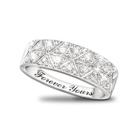"""It s official This will be my wedding band Wow """"Diamond"""