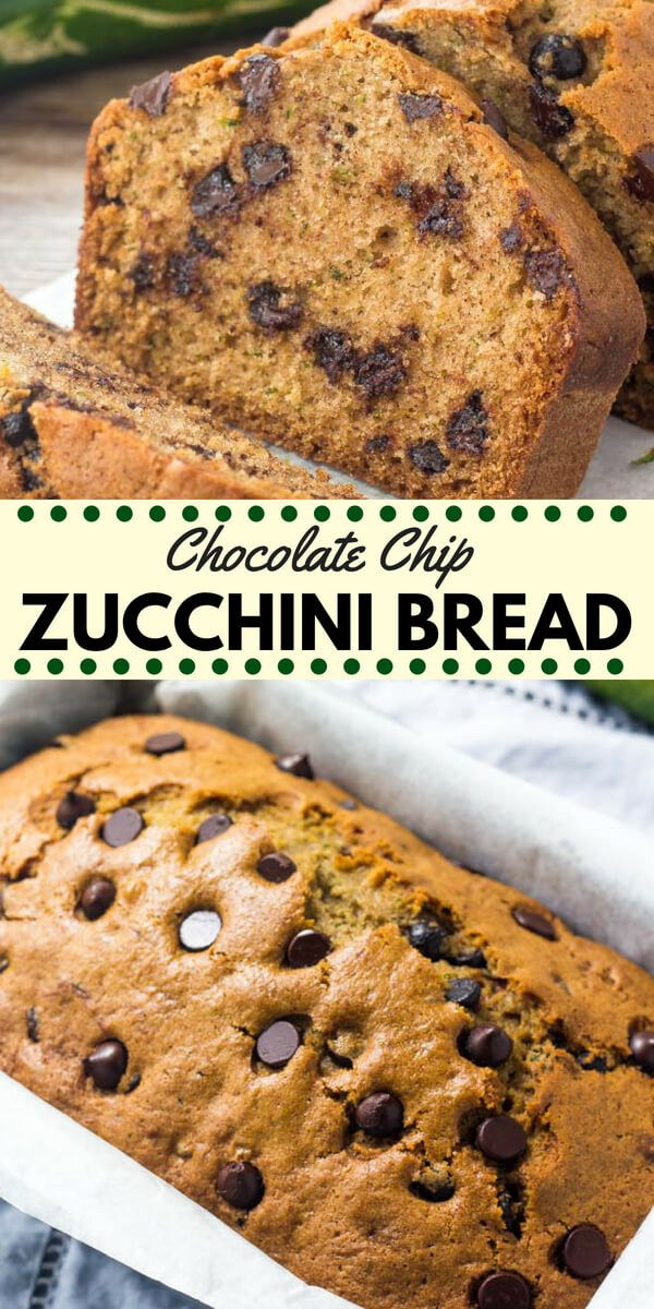 Chocolate chip zucchini bread is moist tender and filled with chocolate chips Transform your garden zucchini into this delicious treat