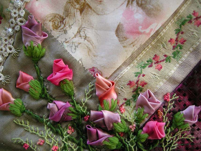 Allie's in Stitches: silk ribbon embroidery