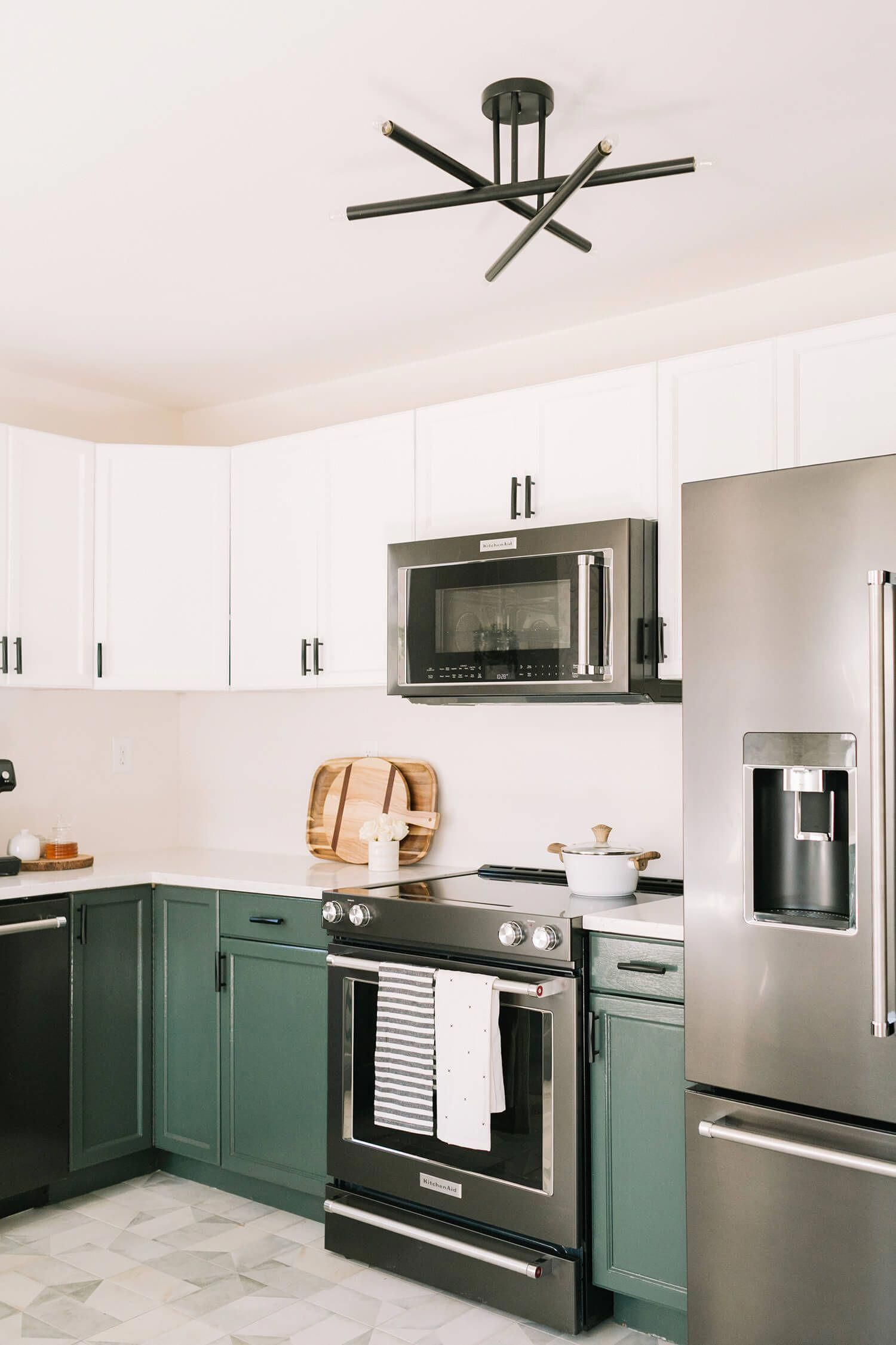 Small galley kitchen remodel before and after