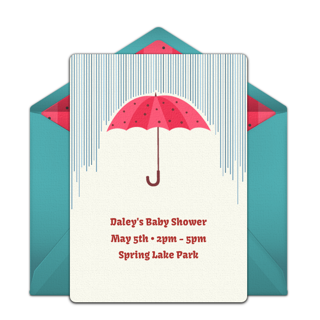 free umbrella invitations baby future party baby shower shower
