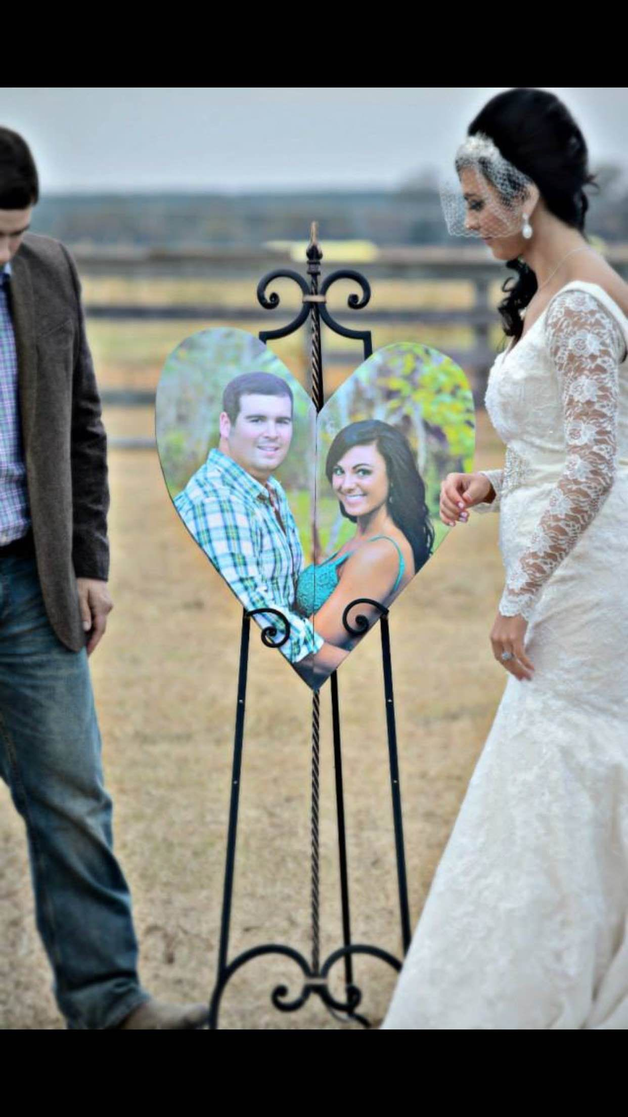 Unique Unity Ceremony Ideas Wedding Different Photo Heart Made
