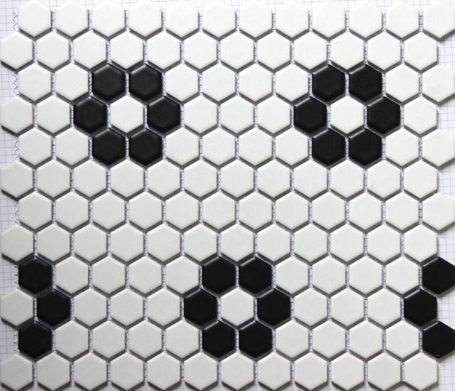 Sicis Noir Blanc Hexagonale En Ceramique Carreaux De Mosaique Dosseret De Cuisine Piscine Salle De Carrelage Marbre Carrelage Hexagonal Blanc Carreaux De Sol
