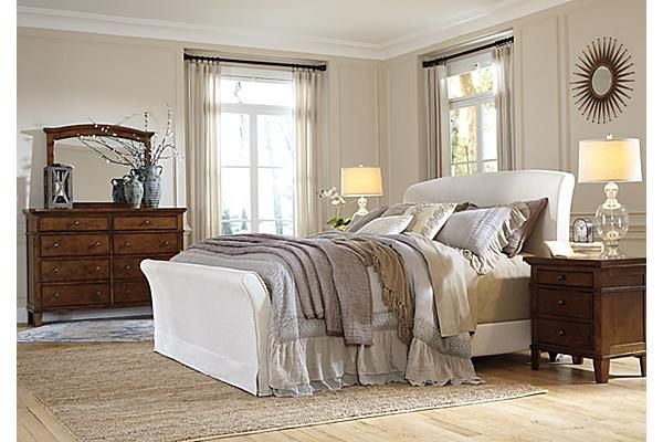 Ordinaire The Burkesville Sleigh Bed From Ashley Furniture HomeStore (AFHS.com). The  Warm