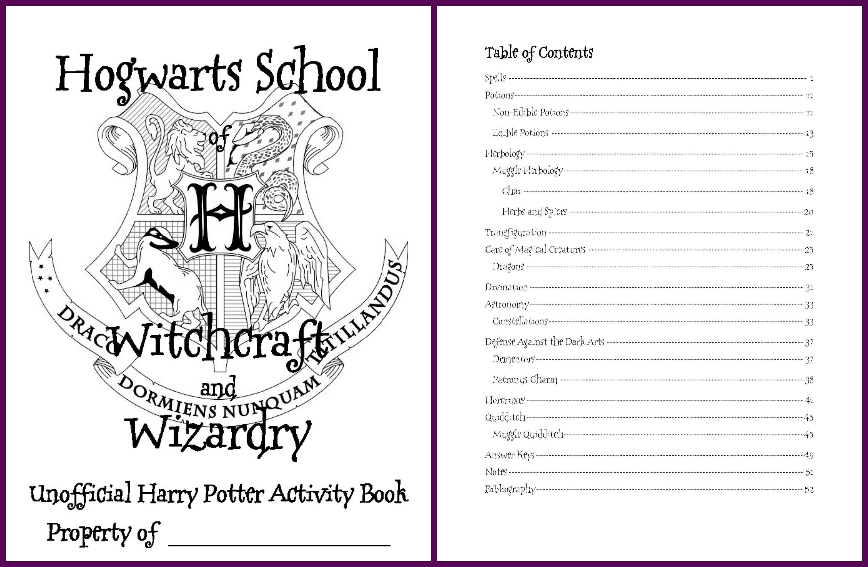 Edition 2 Large Harry Potter Inspired Hogwarts Activity