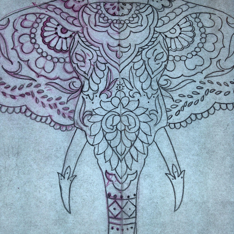 Elephant Mandala Tattoo Tattoos T Tatuajes Elefantes Y: Design For A Tattoo I'm Doing Today. Richdtattoo.com