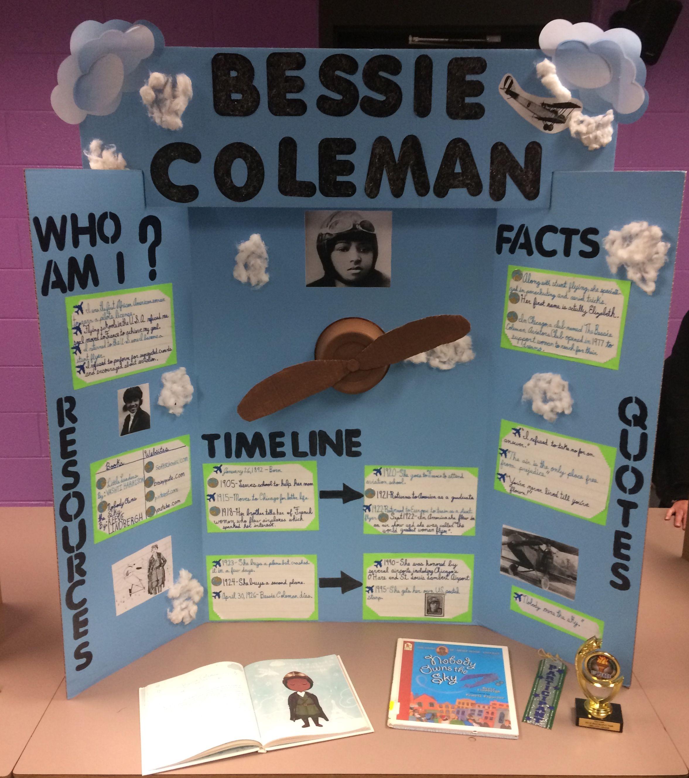 Bessie Coleman Biography Fair Entry