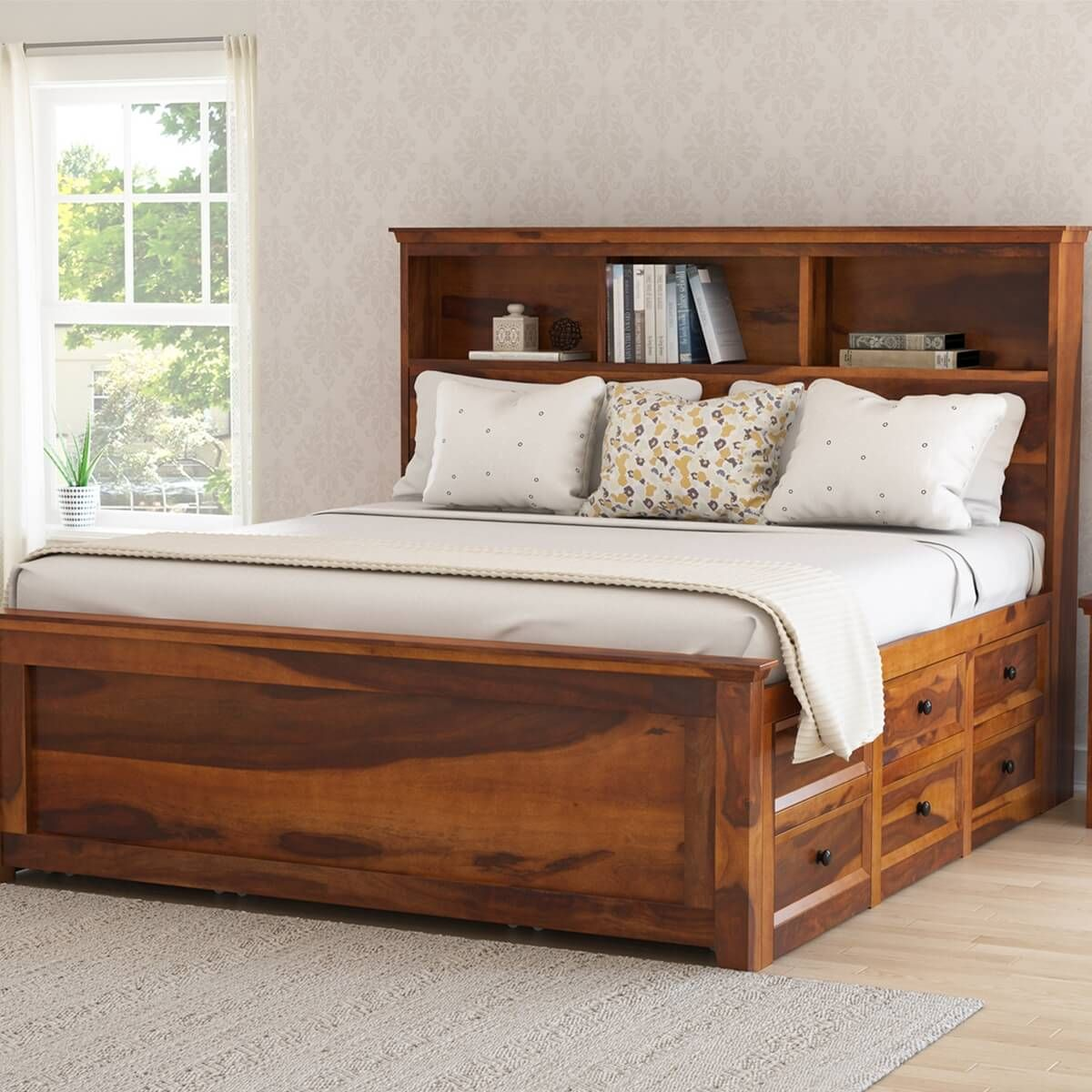 16 Comfortable Full Wood Storage Bed In Bedroom Design Ideas Bed