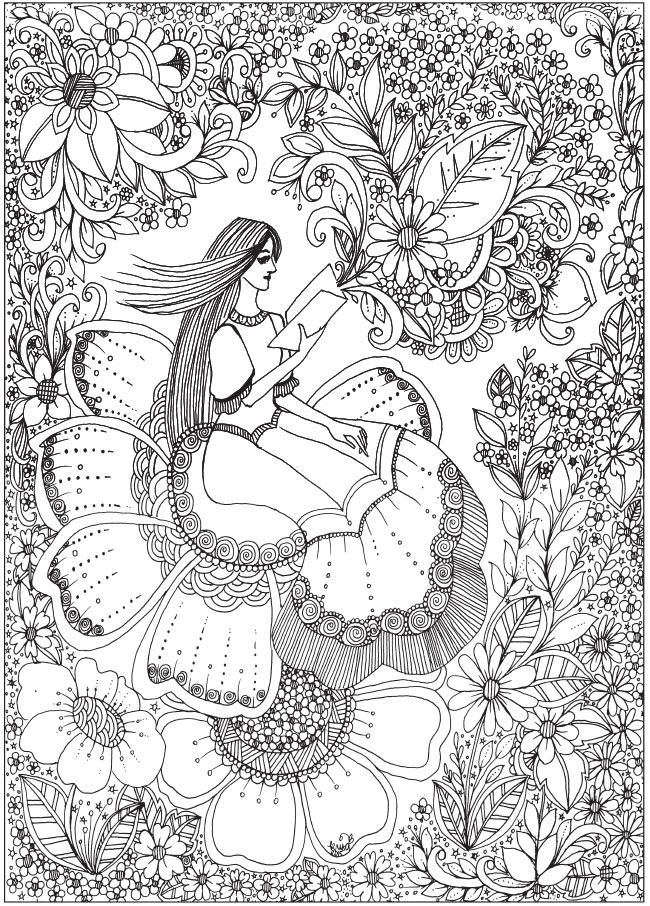 Welcome to Dover Publications | Muñequitas (04) colorear | Pinterest ...