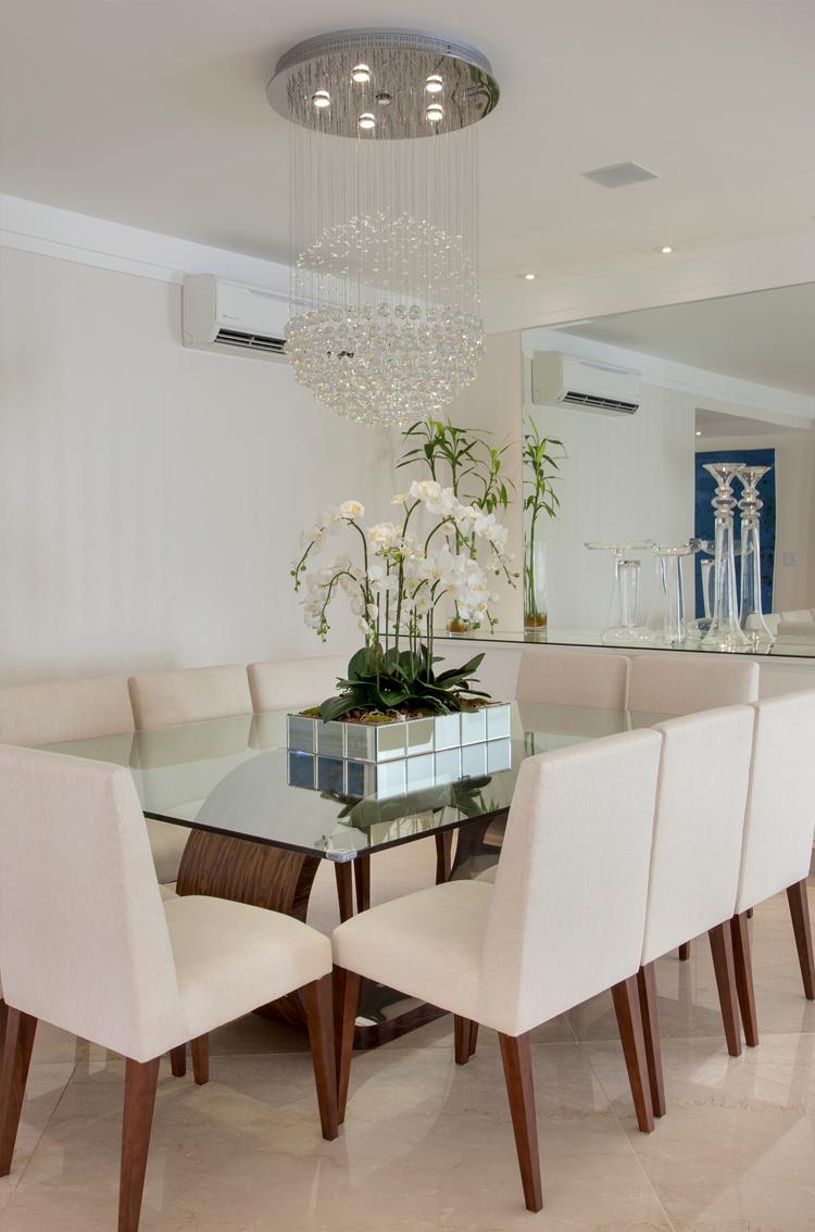 Sala De Jantar Inox E Vidro ~ mesa jantar lustre sala decoração sala salas de jantar sala de estar