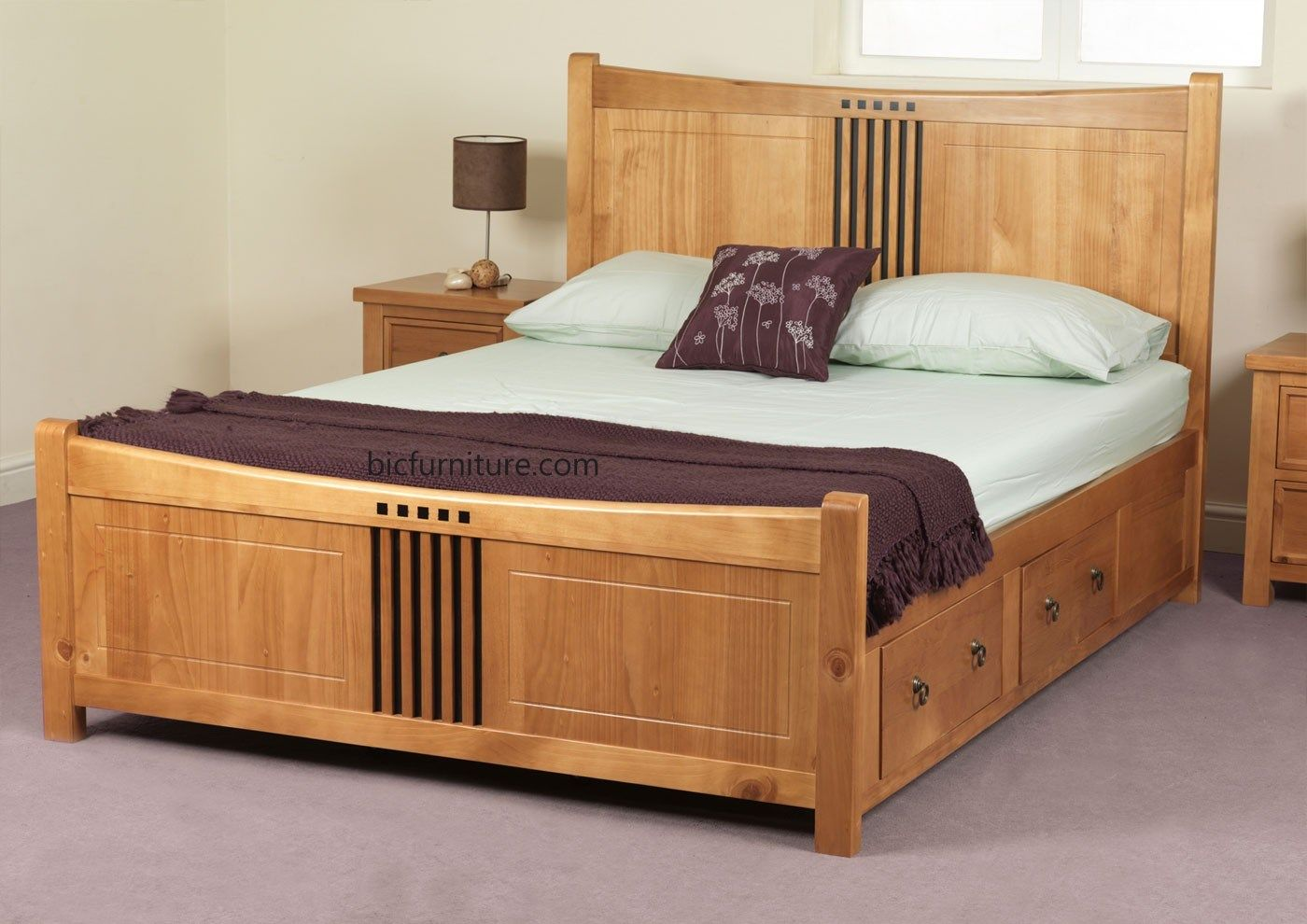 made to order Teakwood double bed with dark king size | Lit | Pinterest