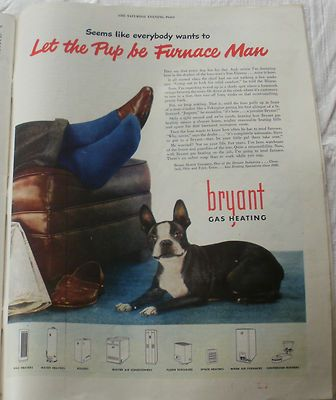 Pup Does It All 1947 Bryant Original Advertising Ebay Vintage Advertisements Old Advertisements Advertising