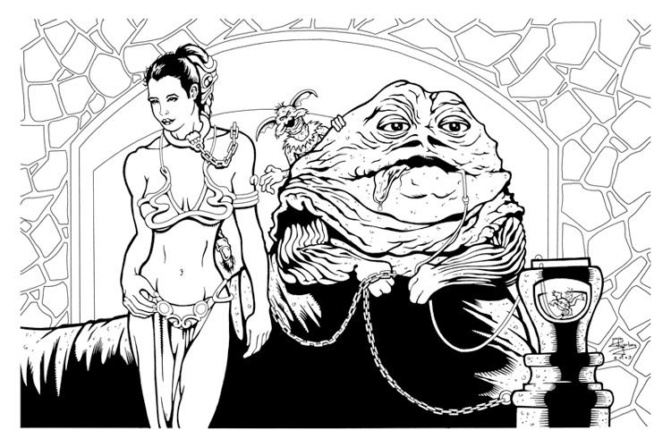 Star Wars Coloring Pages Princess Leia 750x500