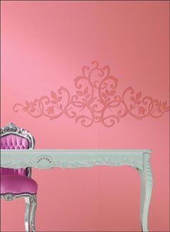 Portico Vine Mural #paintablewallpaper #moderndesign #wallcovering #homedecor #pink