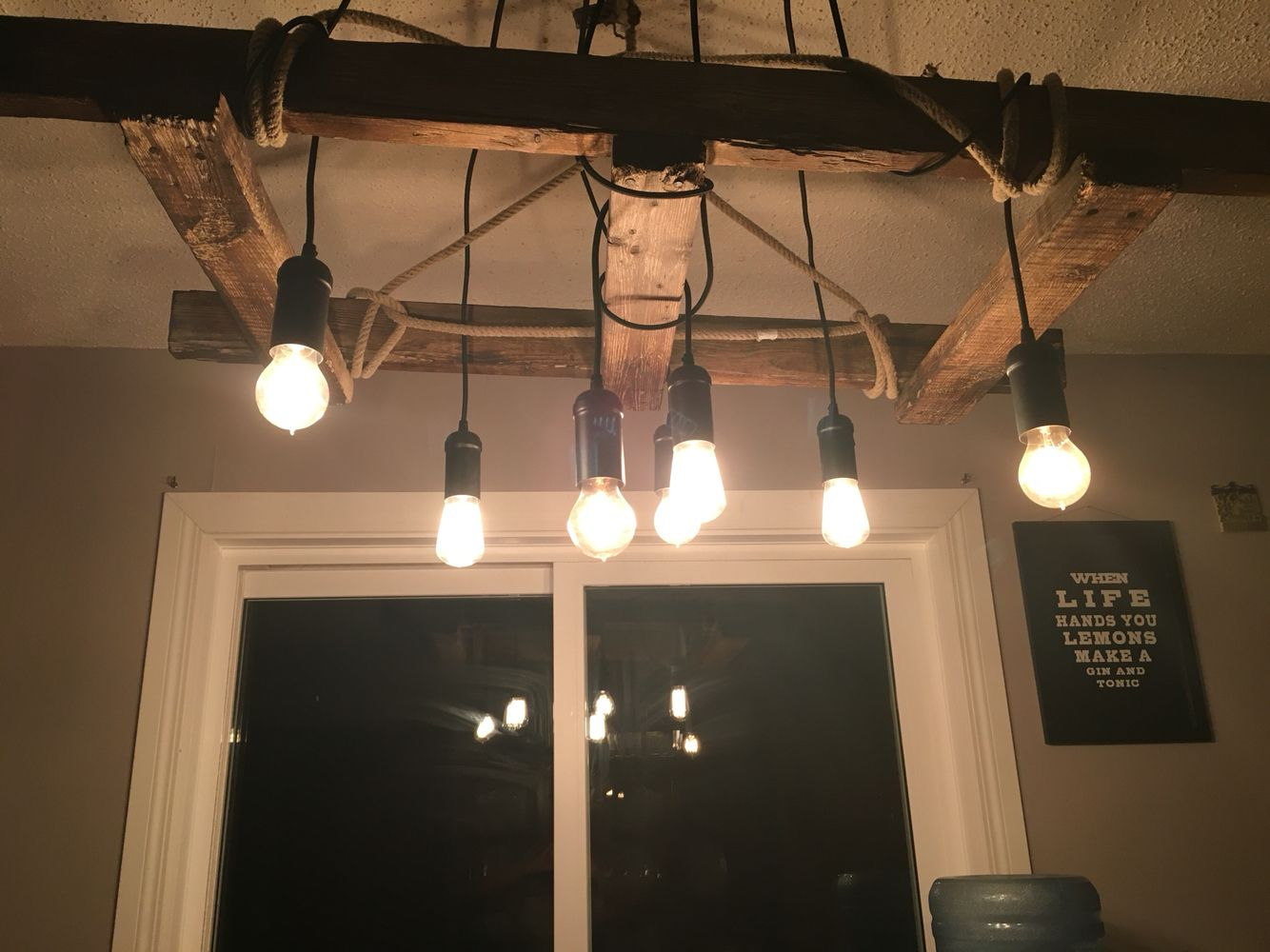 Antique ladder chandelier hung with a 100 year old lariat edison antique ladder chandelier hung with a 100 year old lariat edison bulbs to aloadofball Choice Image