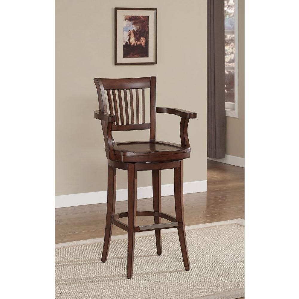 American Heritage Molena 26 In Suede Bar Stool 126109 The Home Depot Wooden Bar Stools Bar Stools Bar Stools With Backs