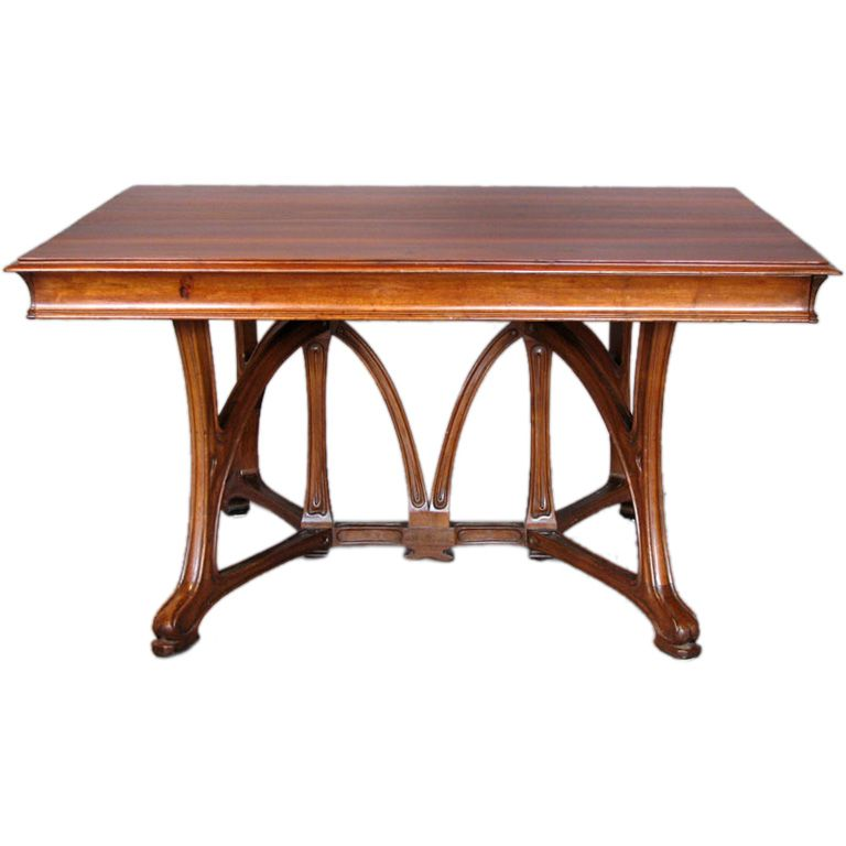 Ca Lon Bnouville Dining Table Of Carved Walnut